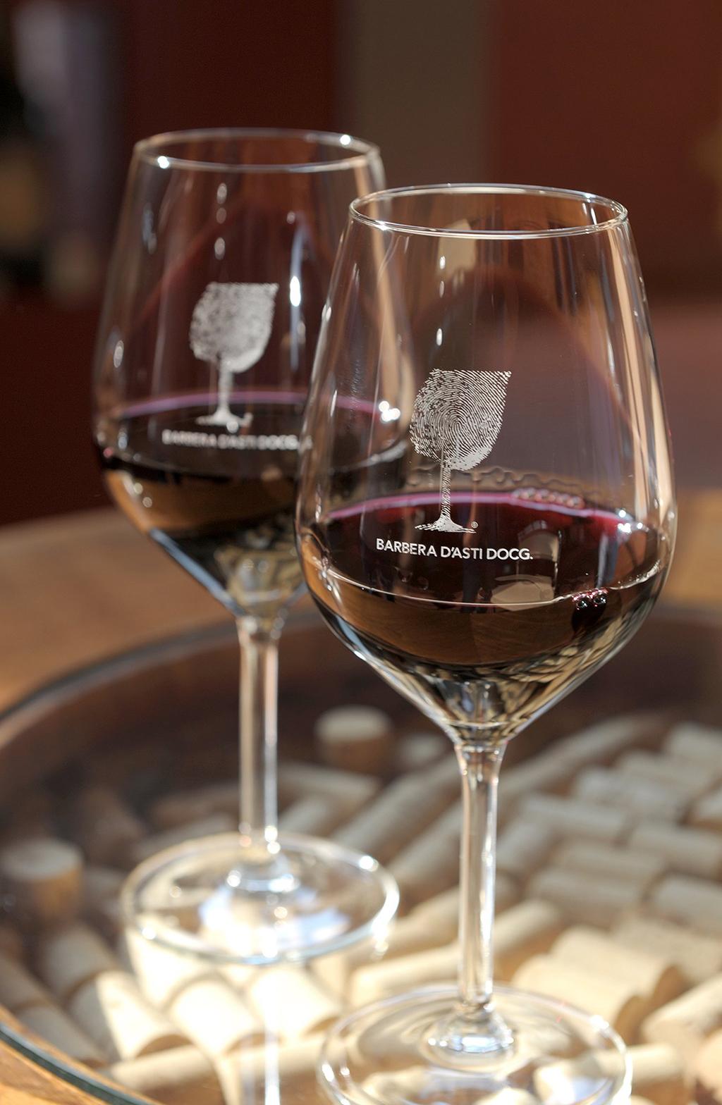 Glass of wine (Consorzio Barbera d'Asti e Vini del Monferrato)
